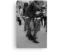 phone hug Canvas Print
