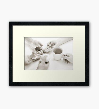 Hands: Sharing Framed Print
