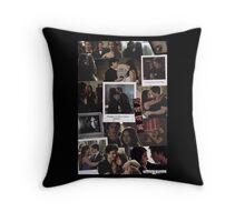 Damon and Elena - The Vampire Diaries Throw Pillow