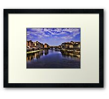 The Arno river in Florence Framed Print