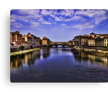 The Arno river in Florence Canvas Print