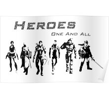 Heroes Landscape (Dark) Poster