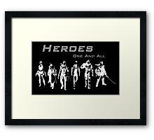 Heroes Landscape (Light) Framed Print