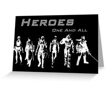Heroes Landscape (Light) Greeting Card