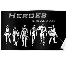 Heroes Landscape (Light) Poster