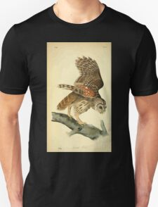 James Audubon Vector Rebuild - The Birds of America - From Drawings Made in the United States and Their Territories V 1-7 1840 - Barred Owl T-Shirt