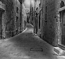 Monochrome The Silent City Mdina Malta by Edwin  Catania