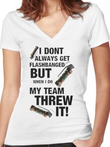Team Flash! Women's Fitted V-Neck T-Shirt
