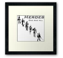 Heroes Square (Dark) Framed Print