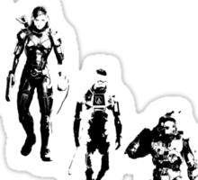 Heroes Portrait (Dark) Sticker