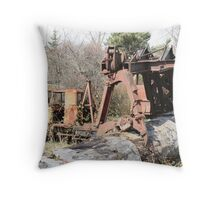 """Old Logging Machinery"" Throw Pillow"