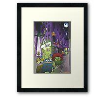 Monster invasion Framed Print