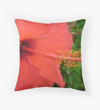 Hisbiscus Throw Pillow