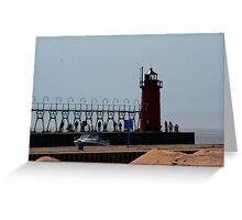 south haven pier Greeting Card