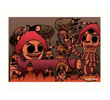 Monsters on the Mountain Art Print