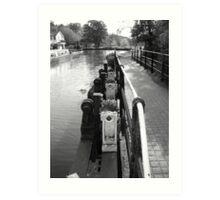 Guildford Weir Art Print