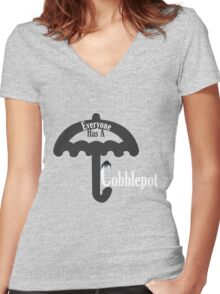 Everyone Has A Cobblepot Women's Fitted V-Neck T-Shirt