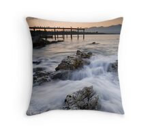 Apricot light at Dusk Throw Pillow