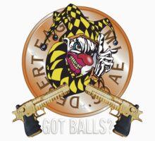 Evil Clown T Shirt Desert Eagle Tiger by bear77