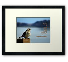 Sit And Think Framed Print
