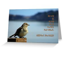 Sit And Think Greeting Card