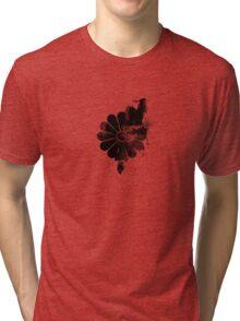 Inked Chrysanthemum Crest Tri-blend T-Shirt