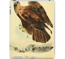 James Audubon Vector Rebuild - The Birds of America - From Drawings Made in the United States and Their Territories V 1-7 1840 - Golden Eagle iPad Case/Skin