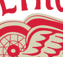 Old School Detroit Red Wings Sticker