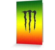 Rasta-Monster Greeting Card