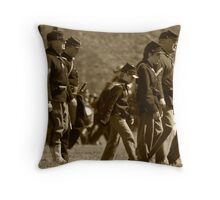 civil war re-enactment Throw Pillow