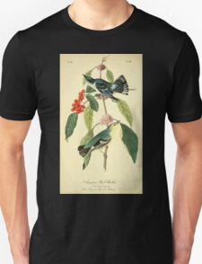 James Audubon Vector Rebuild - The Birds of America - From Drawings Made in the United States and Their Territories V 1-7 1840 - Carulean Wood Warbler T-Shirt