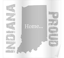 Indiana Proud Home Tee Poster