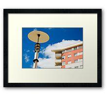 Modern street lamp Framed Print