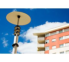 Modern street lamp Photographic Print