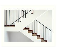 Flight of stairs in a new house Art Print