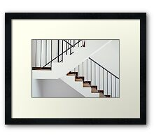 Flight of stairs in a new house Framed Print