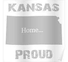 Kansas Proud Home Tee Poster