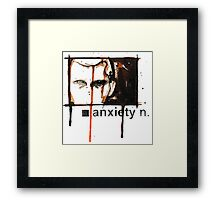 Anxiety Framed Print
