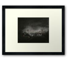 Night Driving on Stanhope Parkway Framed Print