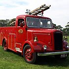 MFB Fire-engine from past days. by Bev Pascoe