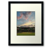 Sunset at Yankee Stadium Night Game Framed Print