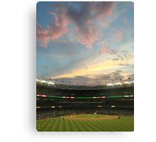 Sunset at Yankee Stadium Night Game Canvas Print
