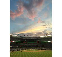 Sunset at Yankee Stadium Night Game Photographic Print