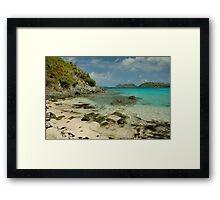 Jumbie Beach, St. John Framed Print