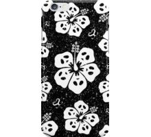 Ghoulish Hibiscus Flower (White Color) iPhone Case/Skin