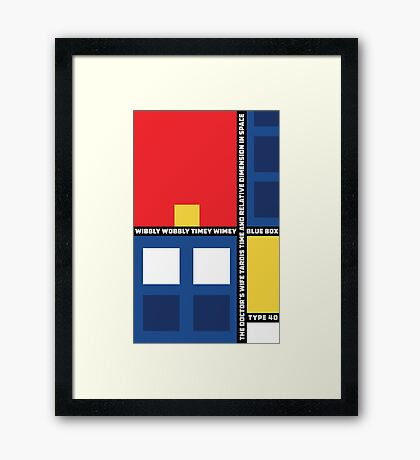 Mondrian Who Framed Print