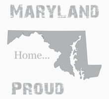 Maryland Proud Home Tee by bennetthuskers