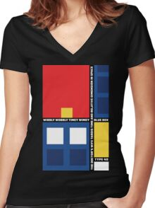 Mondrian Who Women's Fitted V-Neck T-Shirt