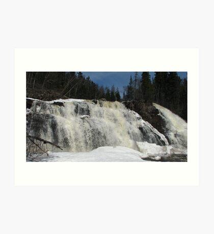 Lower Mink Falls - Marathon, Ontario Art Print