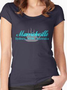 Marrickville Coffee (aqua text) Women's Fitted Scoop T-Shirt